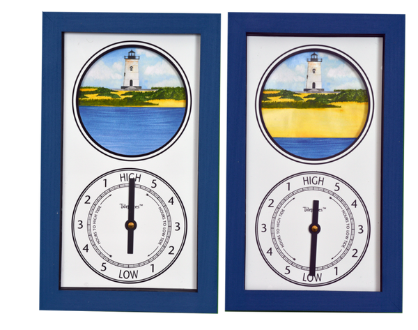 Tidepieces by Alan Winick - Edgartown Light Martha's Vineyard Massachusetts - Tide Clock