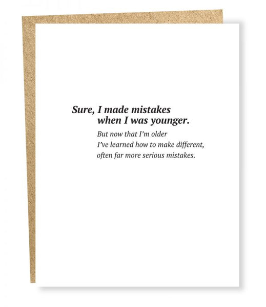 Serious Mistakes - Birthday Greeting Card