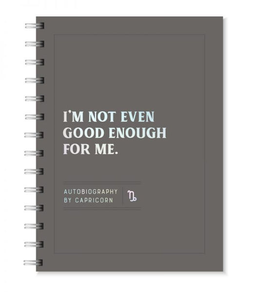 Autobiography by Capricorn - Blank Wire Bound Journal