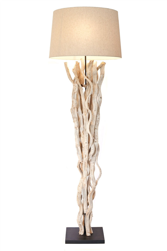 Natural Sculpted Driftwood Vine Floor Lamp 69-in