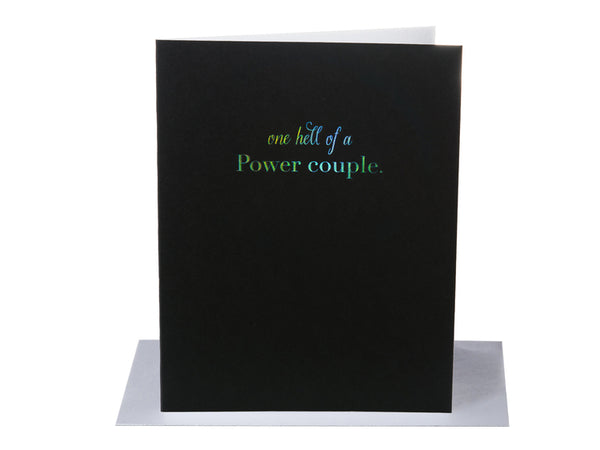 One Hell Of A Power Couple Wedding / Anniversary / Engagement - Greeting Card