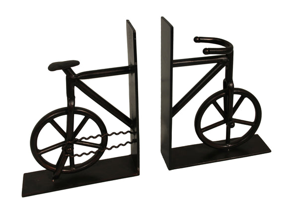 Vintage Bicycle Library Cast Iron Bookend Set