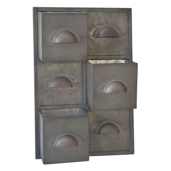 Rustic Galvanized 3 Slot Wall Storage Unit - Mellow Monkey