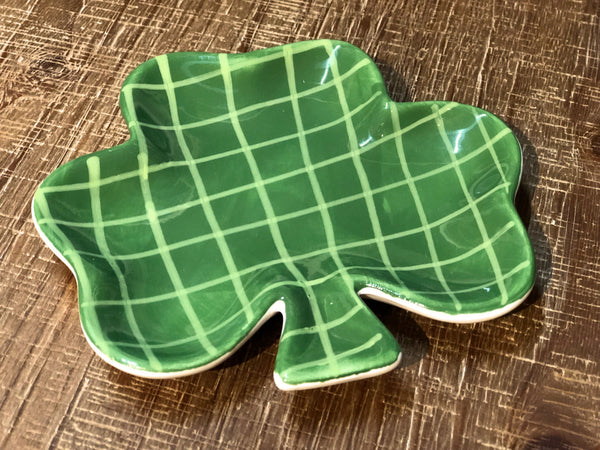 Shamrock Appetizer and Trinket Dish |  5-in