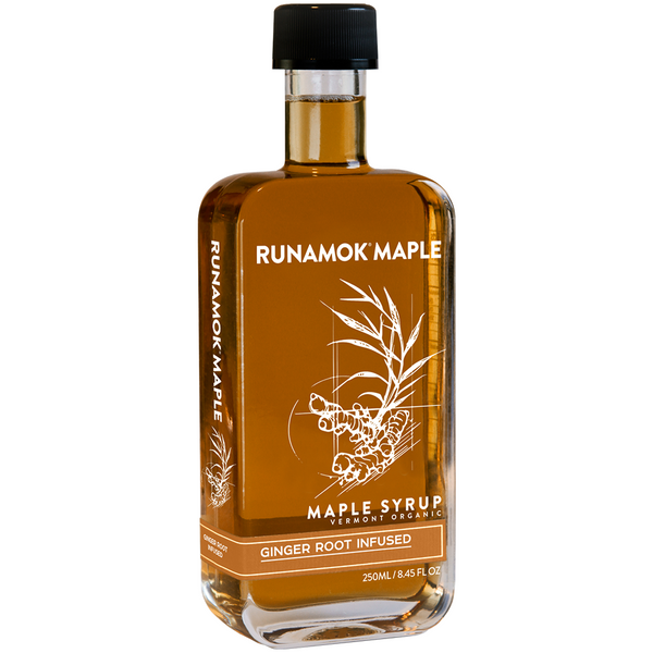 Ginger Root Infused Organic Maple Syrup