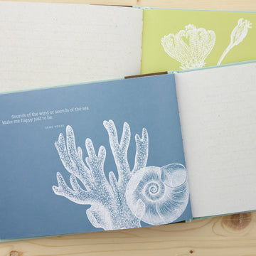 Be Our Guest - Hardcover Coastal Themed Guest Book