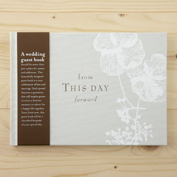 From This Moment On - Hardcover Wedding Guest Book