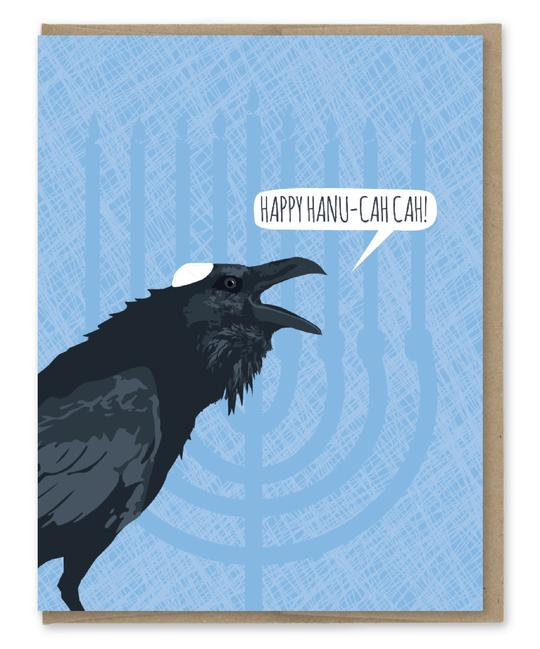 HAPPY HANU-CAH CAH - Holiday Greeting Card