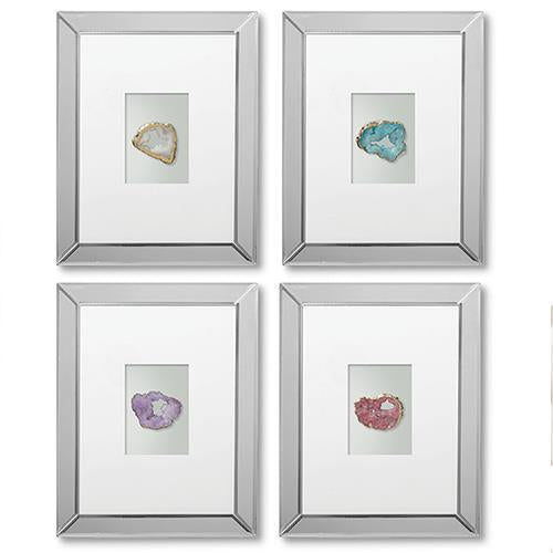 Geode Mirrored Wall Art - 11-1/4-in