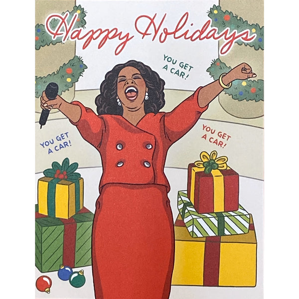 Happy Holidays - You Get A Car! - Holiday Greeting Card