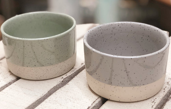 Stoneware Two Toned Bowl - 4-in