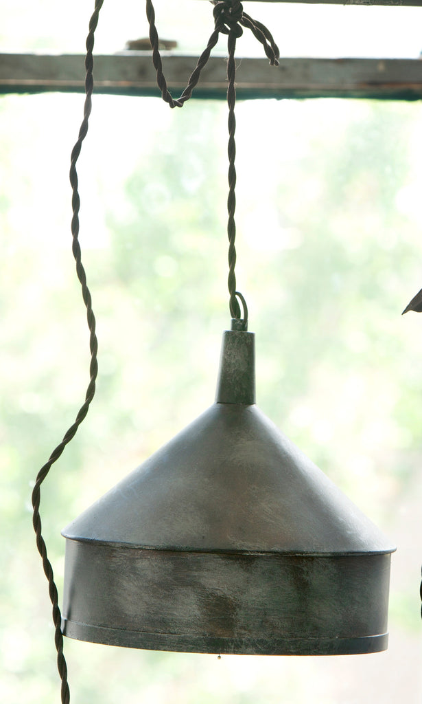 Vintage Metal Funnel Pendant Lamp