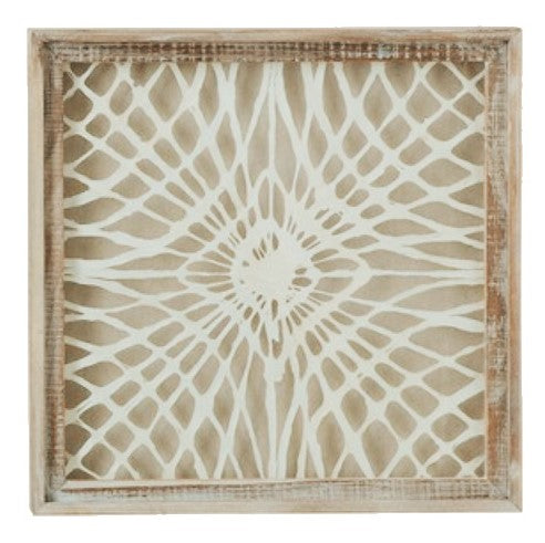 Handmade Wood Framed Abstract Paper Wall Decor - 19-1/2-in - 3 Styles