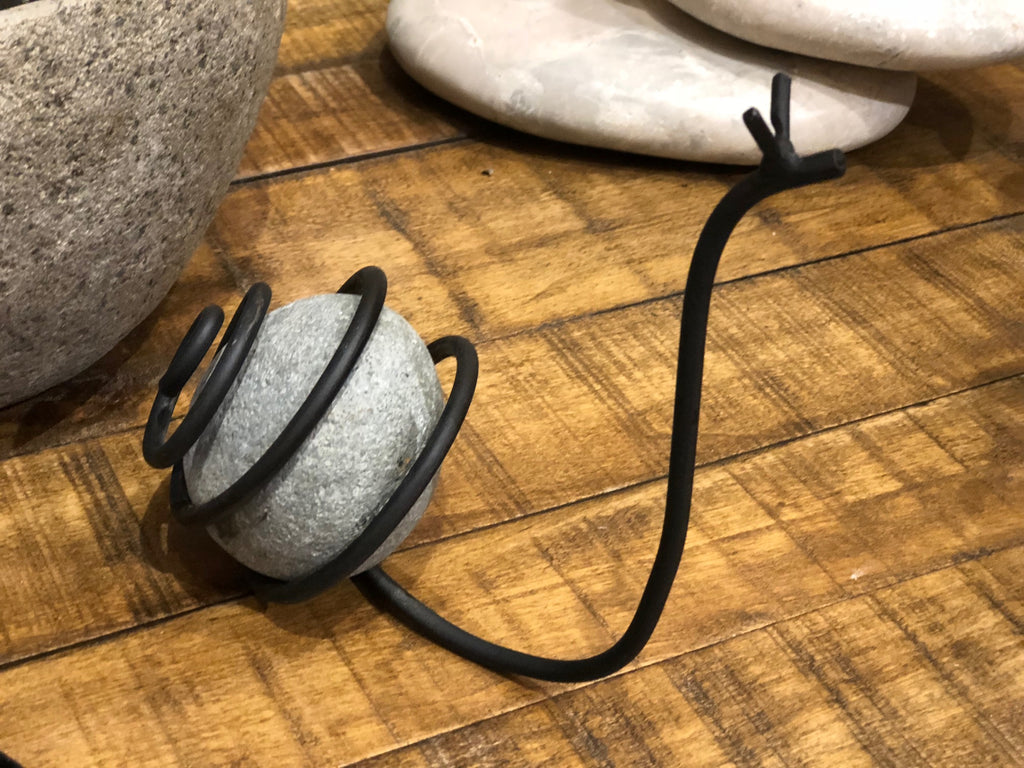 Stone Snail 3-in H