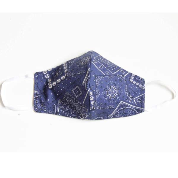 Facemasks LA - Face Mask with Filter - Bandana - BLUE