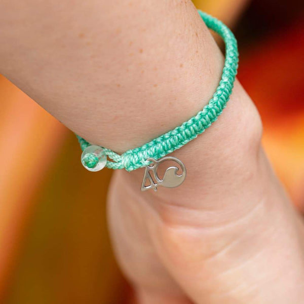 4Ocean Loggerhead Sea Turtle Braided Bracelet - Sea Foam