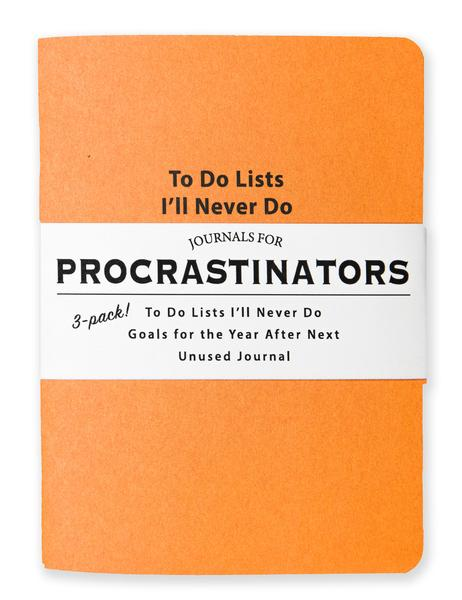 Journals for Procrastinators  - Set of 3