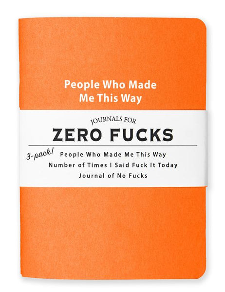 Journals for Zero Fucks - Set of 3