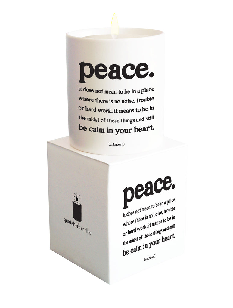 Quotable Cards - Peace - Candle with Gift Box