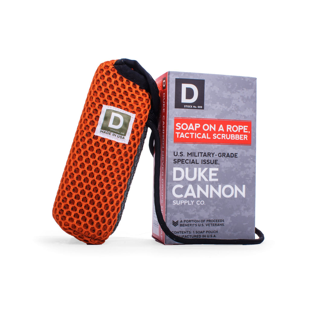 Duke Cannon Tactical Scrubber - Soap On A Rope Redefined