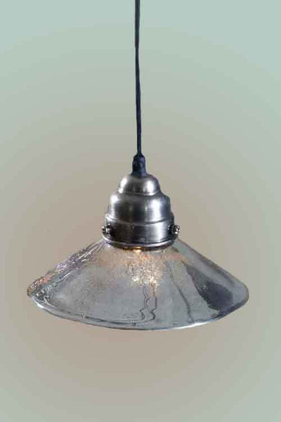Mercury Glass Antiqued Classic Pendant Lamp - Mellow Monkey  - 2