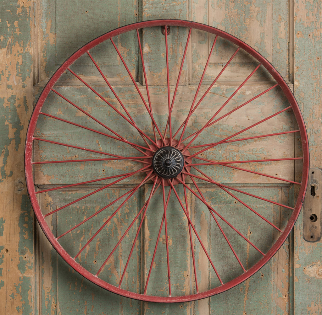 Vintage Metal Bicycle Wheel Rim 22-3/4-in