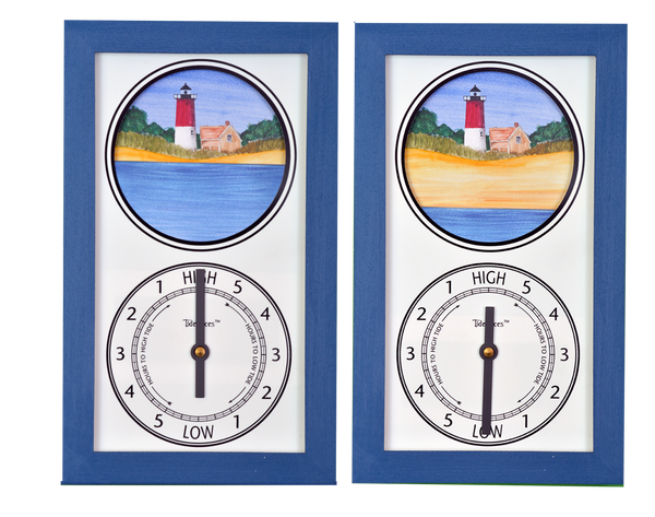 Tidepieces by Alan Winick - Nauset Beach Light Cape Cod Massachusetts - Tide Clock
