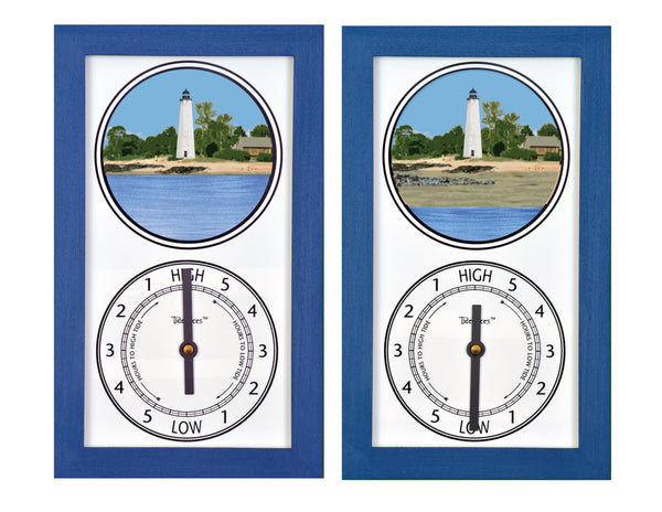 Tidepieces by Alan Winick - Five Mile Point Lighthouse / Old New Haven Harbor Lighthouse Tide Clock