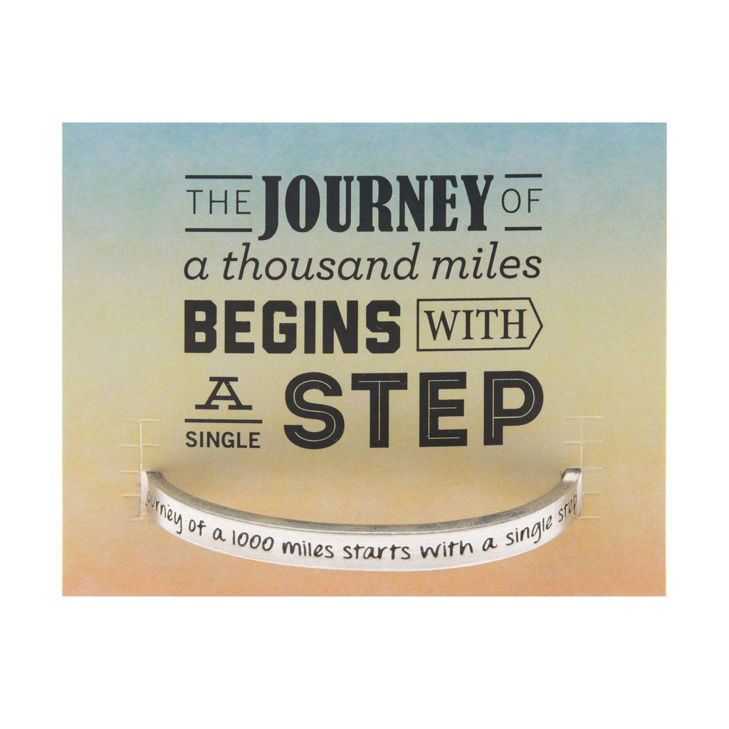 A Journey of 1000 Miles Quotable Cuff Bracelet