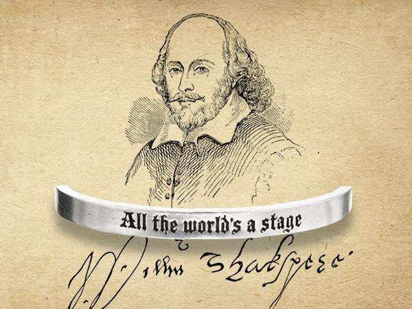 All The Word's A Stage Shakespeare Quotable Cuff Bracelet