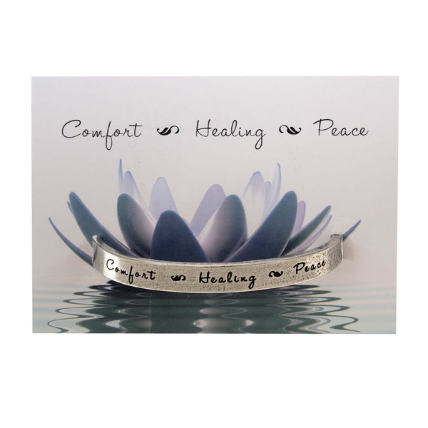 Comfort Healing Peace Quotable Cuff Bracelet