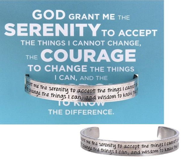 Serenity Prayer Quotable Cuff Bracelet