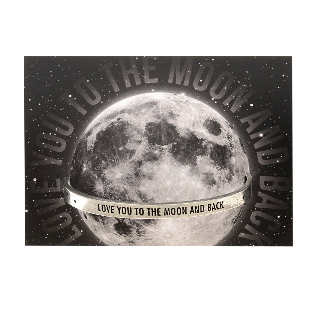 Love You To The Moon And Back Quotable Cuff Bracelet