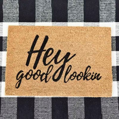 Hey Good Lookin' - Door Mat - 23-in