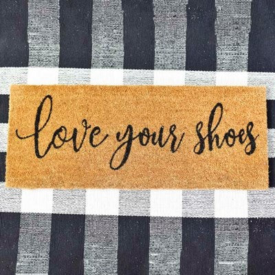Love Your Shoes - Long Door Mat - 30-in
