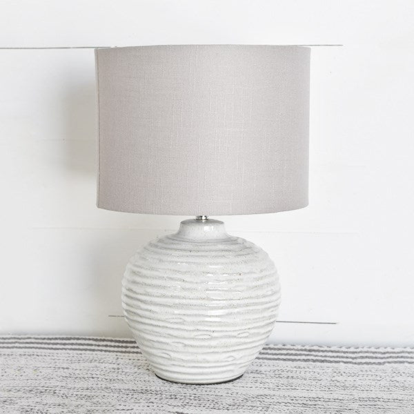 Ceramic Textured Medium Table Lamp - 18-1/4-in