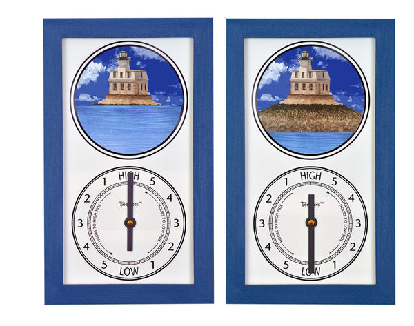 Tidepieces by Alan Winick - Penfield Light Lighthouse Fairfield CT - Tide Clock