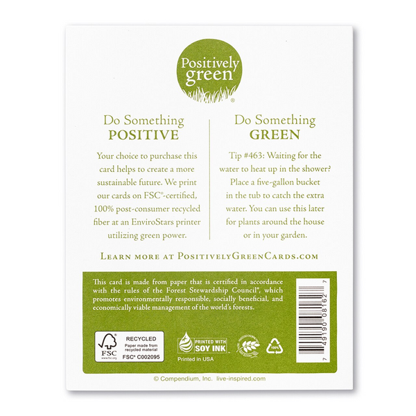 "Positively Green Greeting Card- Mother's Day - ""I Love You and Shall Love You All My Life"" -Anna Dostoyevsky"