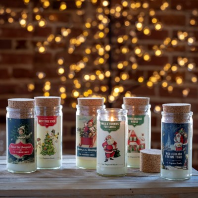 Vintage Holiday Candle Jars with Cork