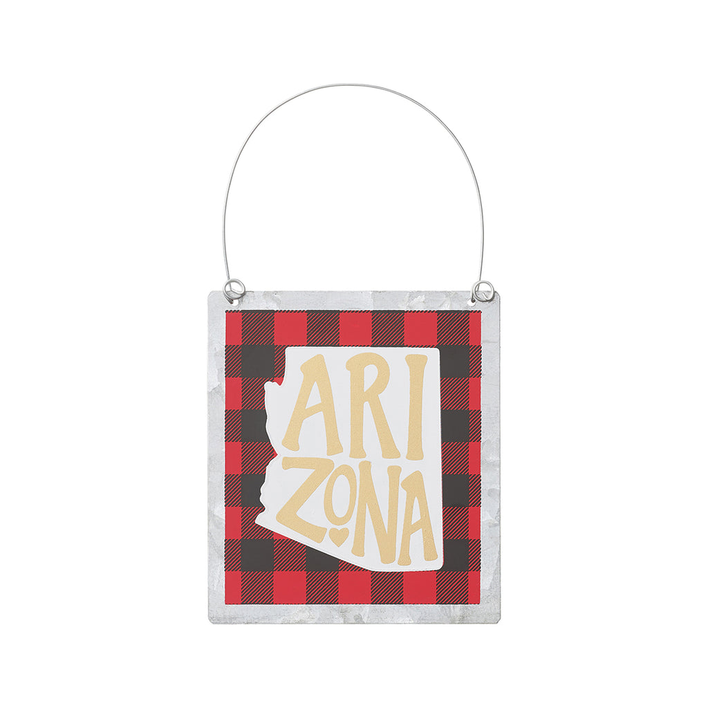 Arkansas - Buffalo Tin Plaid State Ornament