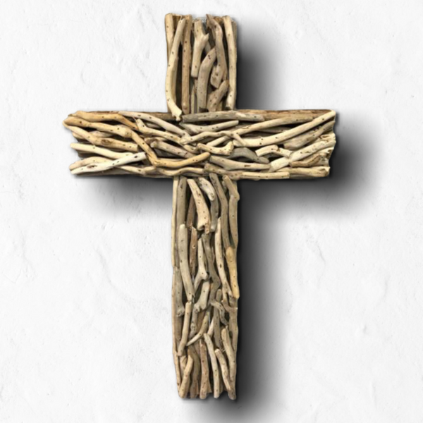Driftwood Cross - Natural 20-in