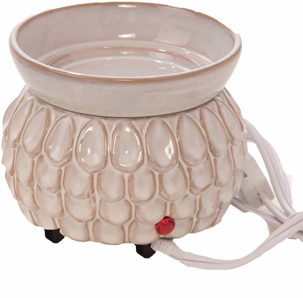 Swan Creek Electric Candle Wax Melter - Ivory Petals
