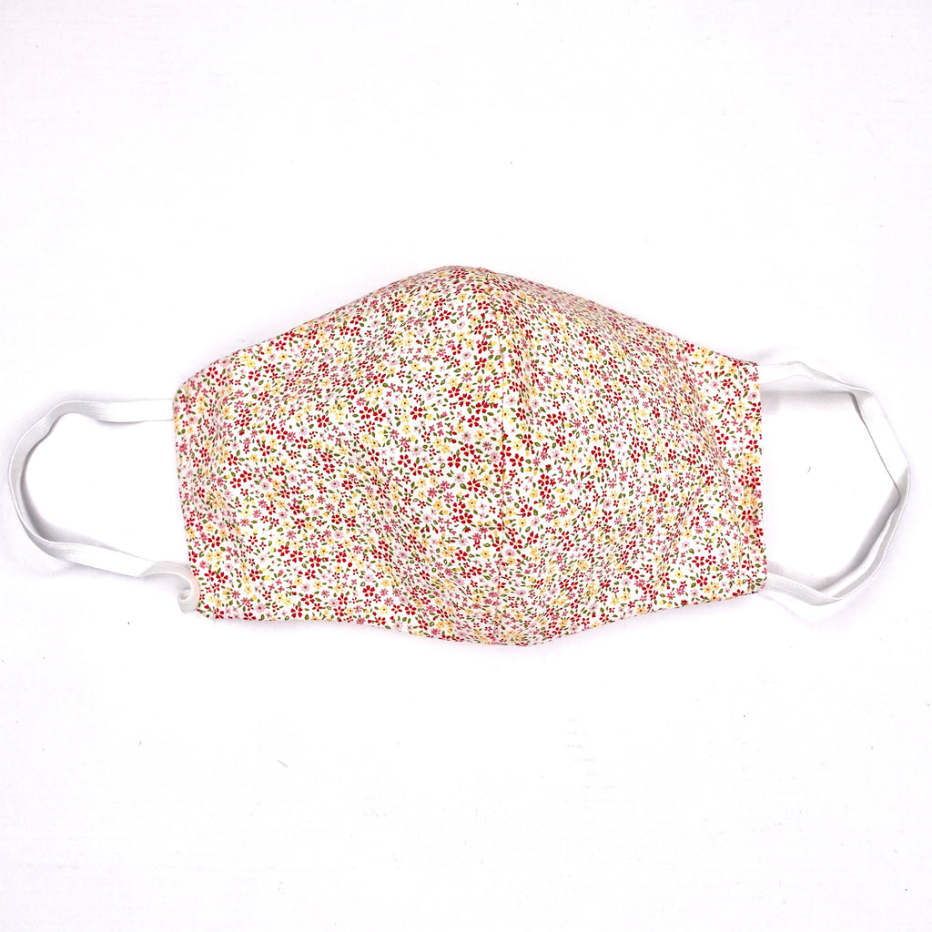 Facemasks LA - Face Mask with Filter - Tiny Flowers
