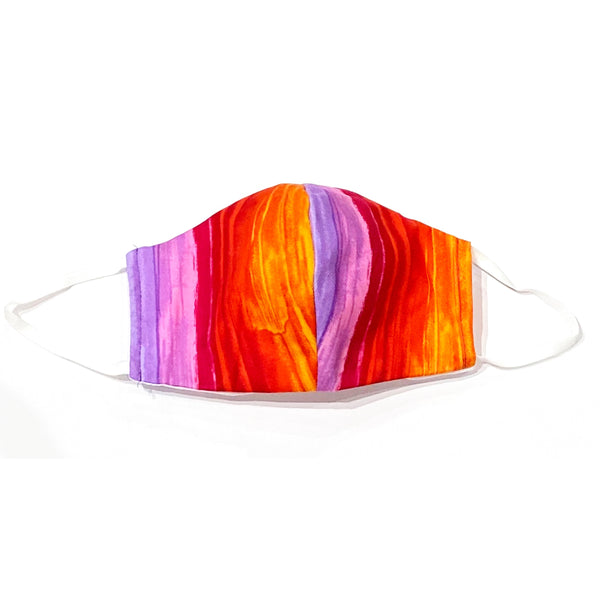Facemasks LA - Face Mask with Filter - Purple Red Rainbow Fade