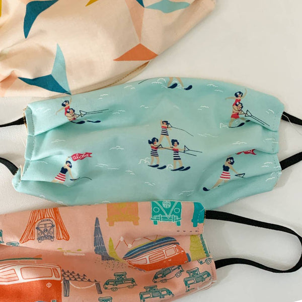 Personal Cotton Face Mask - Surfer Girl