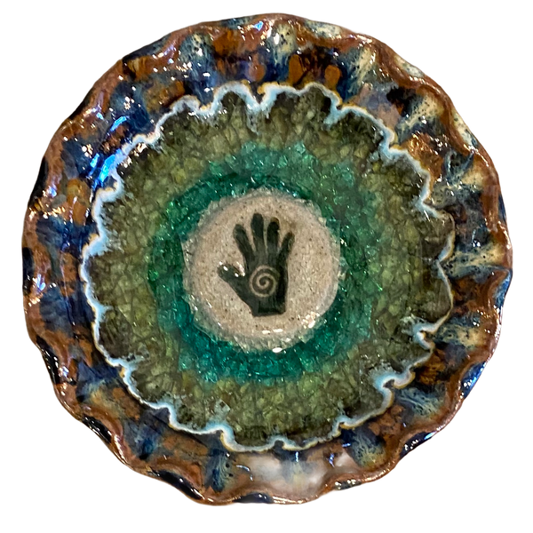 Down To Earth Pottery - Hand Made Glazed Pottery - Healing Hand