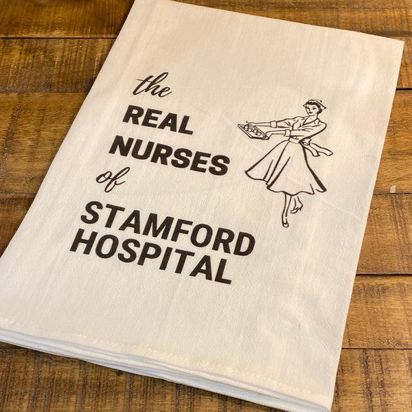 The Real Nurses of Stamford Hospital - Premium Flour Sack Towel
