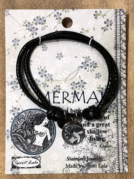 Spirit Lala Adjustable Leather Bracelet - Mermaid