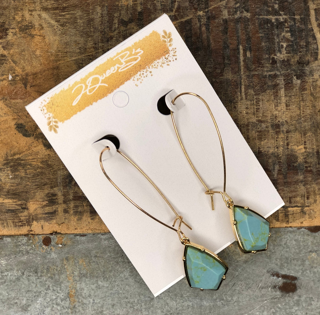 Cactus Cutie Turquoise Drop Earring
