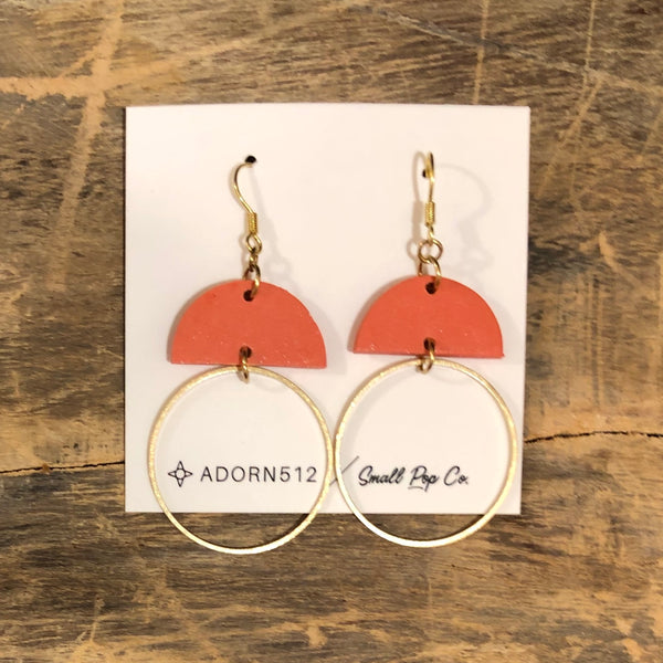 Adorn 512 - Kennedy Earrings - Coral